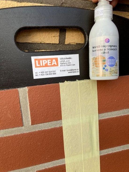 LIPEA - Ukázka - využití nanotechnologie u cihlových materiálů/ nanohydrofobizace kamene a lícových cihel/ www.lipea.cz