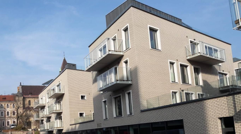 Obklad fasád Rezidence Sacre Coeur v Praze-Smíchově