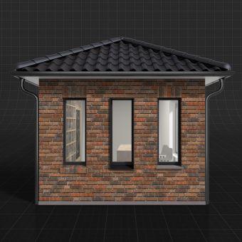 LIPEA - lícová cihla K 685 sintra ardor nelino - vizualizace/ lícové cihly na fasádu/ lícové zdivo/ www.lipea.cz