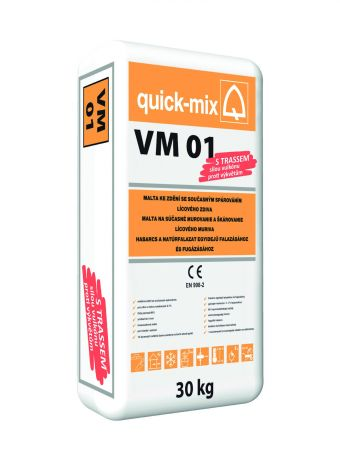 VM 01 - zdící a současně spárovací hmota pro cihly s nasákavostí 0-7%