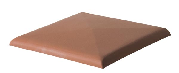 Keramické stříšky/ zákrytové desky - odstín cihlově červený