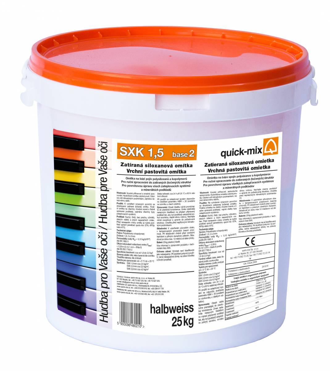 LIPEA/ siloxanová omítka pro zatírané struktury/ probarvená fasáda