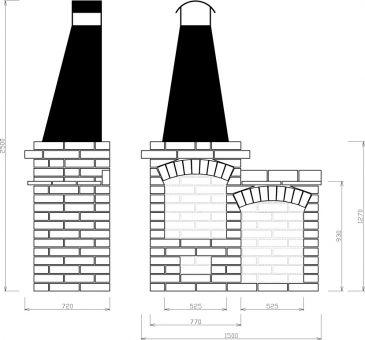 LIPEA - zahradní krb/ krb ze šamotek/ šamotový krb/ krby a kamna/ rozměry krbu/ stavba krbu