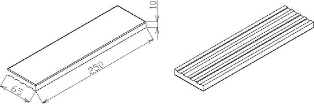 LIPEA - rozměry kameninových pásků/ fasádní pásky