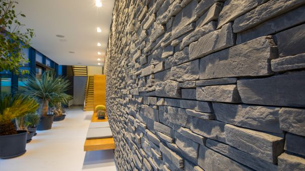 LIPEA - Grenada 5 - GRAPHITE, betonový obklad imitující kámen/ kamenný obklad z lehčeného betonu www.lipea.cz