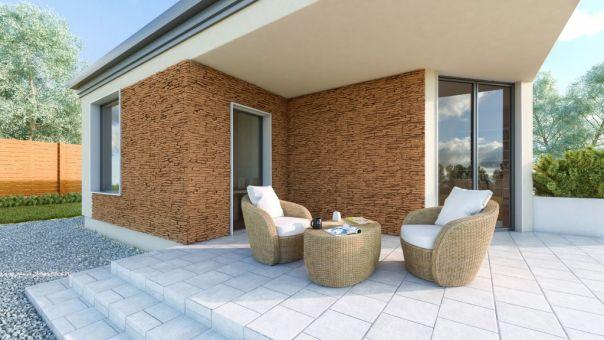 LIPEA - California 3 - MOCCA, betonový obklad imitující kámen/ kamenný obklad z lehčeného betonu www.lipea.cz