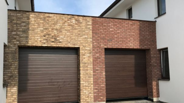 LIPEA - CAMBRIDGE 10 zleva + CAMBRIDGE 4 zprava, betonový obklad imitující pálenou cihlu/ materiál lehčený beton/ www.lipea.cz